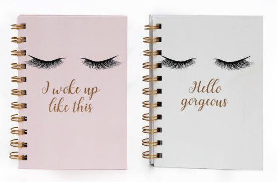 A5 Lash Note Books – Pink or White